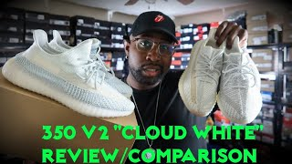 """ADIDAS YEEZY 350v2 """"CLOUD WHITE"""" REVIEW   350 v2 STATIC & LUNDMARK COMPARISON SIDE BY SIDE"""