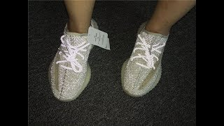 """Adidas Yeezy Boost 350 V2 """"Lundmark"""" full reflective + on feet review!"""