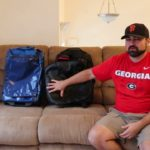 The North Face Rolling Thunder 22 and Patagonia Black Hole Wheeled Duffel 40l Side by Side