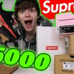 "$5000 HYPEBEAST HAUL ""CRAZY"" Part One – Lyrical Lemonade Supreme Yeezy"