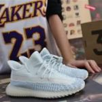 """First Look Authentic Yeezy Boost 350 V2 """"Cloud White"""" Kids Shoes HD Review"""