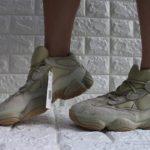 Yeezy 500 Boost Stone on feet