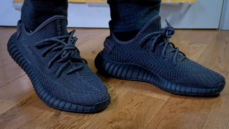 Adidas Yeezy 350 V2 (BLACK/Black Static) – Unboxing, Review & On Feet