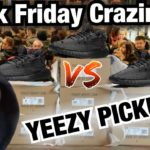 BLACK FRIDAY vs YEEZY BOOST 350 V2 BLACK PICKUP VLOG!