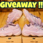 INSANE YEEZY 500 SOFT VISION GIVEAWAY !! TWO PAIRS!! Review + On feet