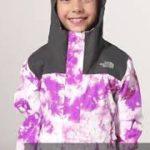 The North Face北面兒童紫色渲染防水透氣衝鋒衣 3NHS9K2