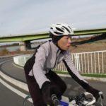 12月中旬のサイクルウェア例。ウインドブレークジャケット・タイツ