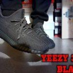 ADIDAS YEEZY BOOST 350 V2 BLACK ON FEET