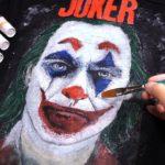 古着のジャケットに手描きでジョーカーを描いてみた。【JOKER 2019】