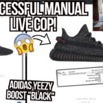 """SUCCESSFULL Yeezy Boost 350 V2 """"Black"""" Manual Live Cop! 