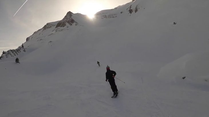 Scary windy ridge ascent! for a north face ride! was it worth it? Morzine Freeriding- Pont de vorlaz