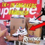 UNBOXING $1000+ WORTH OF HYPEBEAST SNEAKERS! (Yeezy, Jordan, Revenge Storm)
