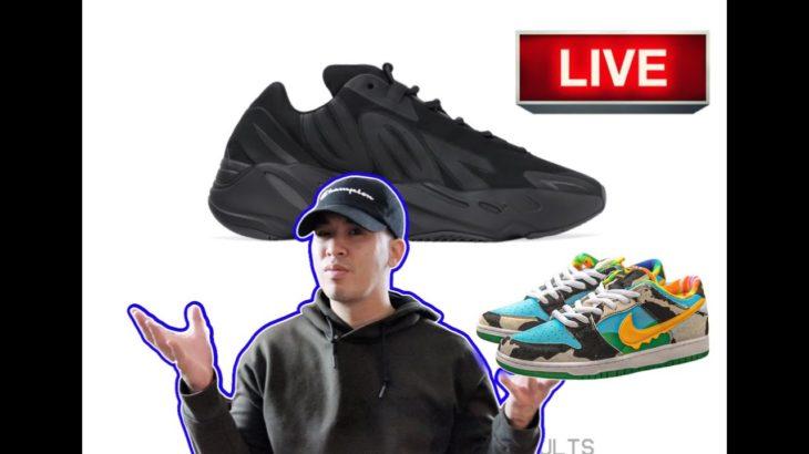 LIVE COP !! YEEZY 700 MNVN BLACK | DID ANYONE HIT ON BEN & JERRY