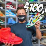 My Entire $100,000 Sneaker Collection *INSANE*