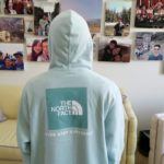 The North Face Red Box Blue Haze Pullover Hoodie + On Body! 3 29 2019