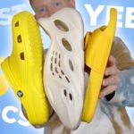 YEEZY Foam RUNNERS VS CROCS & BOOST Slides! Which is Best?!
