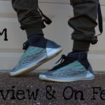 """ADIDAS YEEZY QNTM """"TEAL BLUE"""" BOOST REVIEW & ON FEET"""
