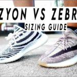 Adidas YEEZY 350 V2 BOOST ZYON SIZING AND YEEZY 350 ZEBRA COMPARISON