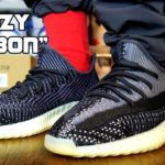 Adidas Yeezy 350 Boost V2 CARBON On Foot In 4k Ultra HD