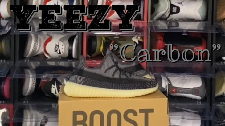 """Adidas Yeezy Boost 350 V2 """"Carbon"""" Unboxing & Review #TitanicFeetJack #TFGang #adidas #yeezy #carbon"""
