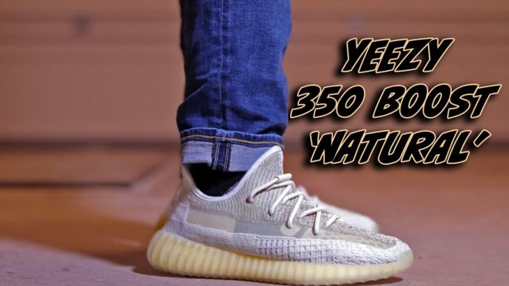 YEEZY 350 'NATURAL' ON FOOT+ REVIEW!!!