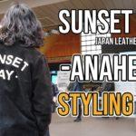 【ANAHEIM】サッと羽織りたくなるレザーコーチジャケット スタイリングクリップ SUNSET BAY LEATHER
