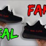 REAL VS FAKE! ADIDAS YEEZY 350 V2 BRED COMPARISON!