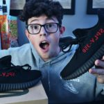 YEEZY 350 v2 BRED UNBOXING + REVIEW!!
