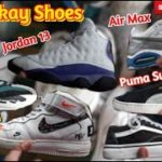 Jordan 13, Air Force 1 Just do It, Puma Suede, Yeezy  Boost 700 at dami pang solid na Ukay Shoes..