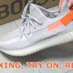 Yeezy Boost V2 Light Tail // UNBOXING, TRY ON & REVIEW