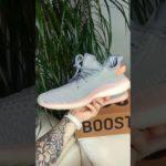 Кроссовки мужские Adidas Yeezy 350 текстильные серые молодежные летние 00282