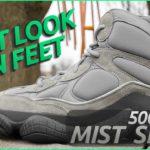 YEEZY 500 TALL – MIST SLATE – 1st Look On Feet