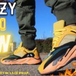 YEEZY 700 SUN REVIEW & ON FEET W/ LACE SWAP