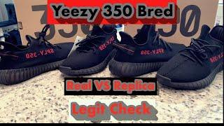Yeezy 350 Bred Real VS Replicas Legit Check!