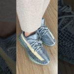 Yeezy 350 V2 Ash Blue On Feet Look