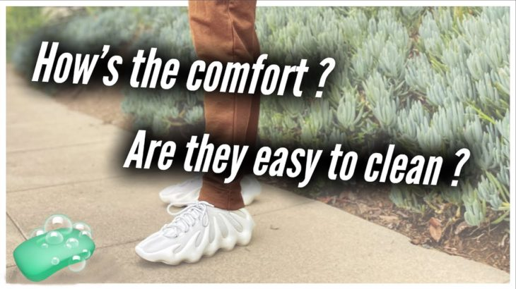 ARE THE YEEZY 450 EASY TO CLEAN 🧽 ? How well do they hold up and how's the comfort