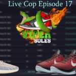 LIVE COP 17  CYBER+DASHE +WHATBOT + TSB   YEEZY 350 ASH PEARL    KOBE 6 ALL STAR  GIVEAWAY  UNBOXING