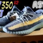 "YEEZY BOOST 350 V2 ""ASH"" BLUE REVIEW 4K"