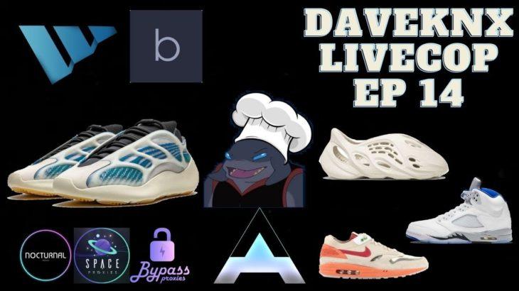 Yeezy 700 Kyanite, Yeezy Foam Runner, Air Max Clot Sneaker Botting Live Cop – daveknx Live Cop Ep 14