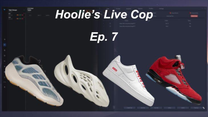 "Hoolie's Live Cop Ep. 7 – Yeezy RNNR ""Sand"", Air Jordan 5 ""Raging Bull"" Red, and more!"