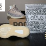 """How to apply sole protectors to Yeezy 350 V2 """"Ash Pearl"""" With blow dryer"""