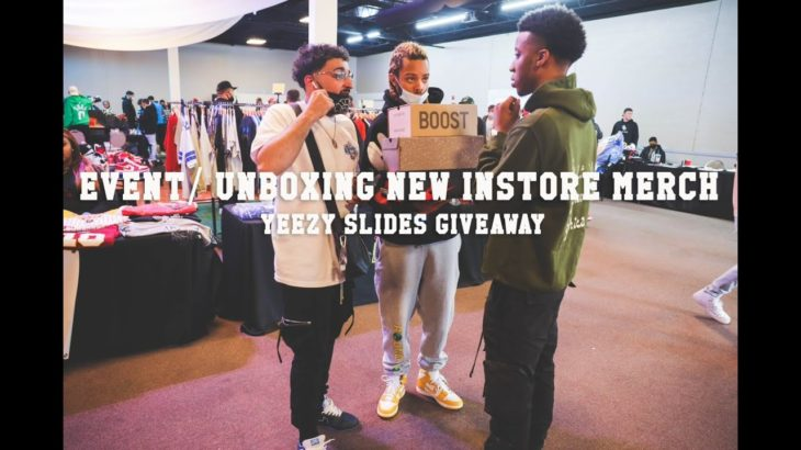 "PULLING UP TO ""SHIP 2 CLE"" EVENT/UNBOXING NEW INSTOE MERCH+YEEZY SLIDE GIVEAWAY"