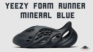 Yeezy Foam Runner Mineral Blue Shoes Exclusive Look & Release Date + Price 2021