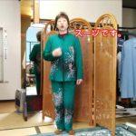 【まさこちゃんネル】5月の装い:グリーンのちりめんスーツ