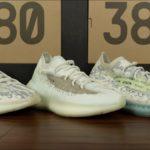 COMPARISON: adidas Yeezy Boost 380 'Alien' vs. 'Calcite Glow' vs. 'Alien Blue'