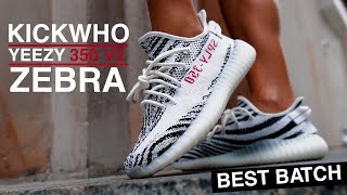 KICKWHO ADIDAS YEEZY 350 V2 ZEBRA REVIEW and ON FEET / USE my code – DECENT20