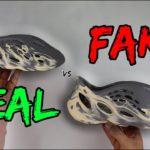 REAL VS FAKE! ADIDAS YEEZY FOAM RUNNER MOON GREY COMPARISON!