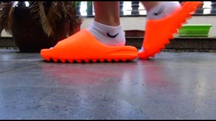 #yeezy slides#yeezyshoes how is looking yeezy slides on feet