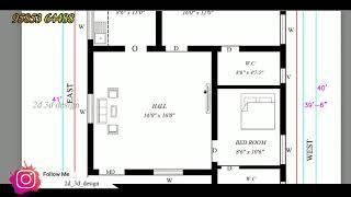 1000sft North Facing Building house plan per vastu