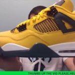 Air Jordan 4 Lightning Tour Yellow Sneaker  REVIEW + Adidas Yeezy 350 Light